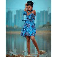 Chitenge Off shoulder dresses