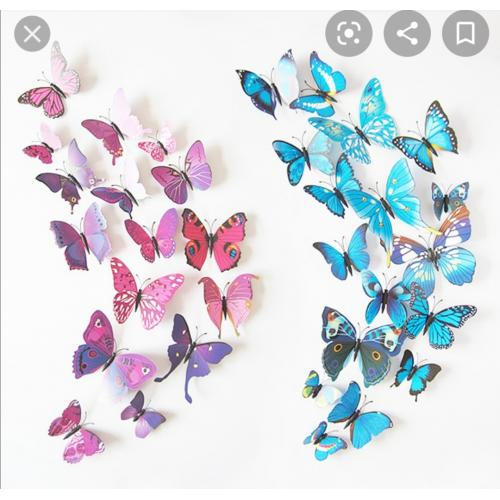 3D Magnetic butterflies