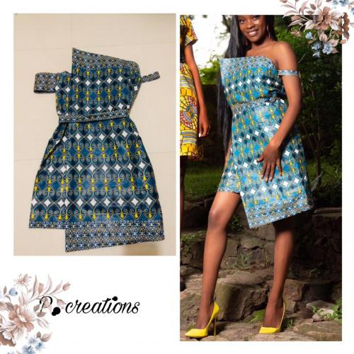 Chitenge wrap dress