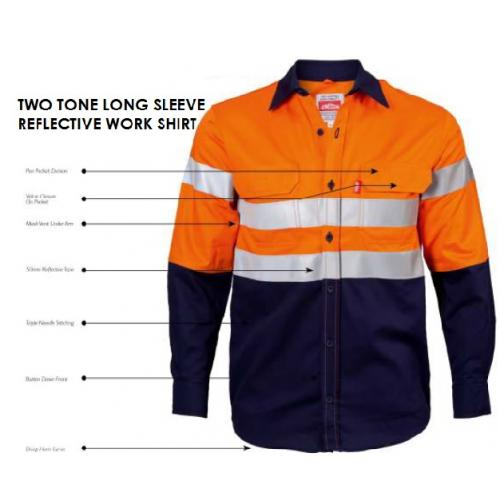 Two Tone Long Sleeve Reflective Workshirt